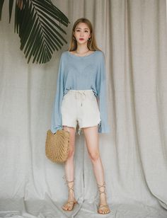 Short Outfits, Spring Outfits, Cool Outfits, Casual Outfits, Women's Casual, Asian Fashion, Girl Fashion, Fashion Outfits, Fashion Women