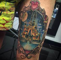 Disney Castle Tattoo by Isobel Juliet Stevenson