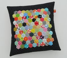 "epp 3/4"" hexie pillow by s.o.t.a.k. handmade"