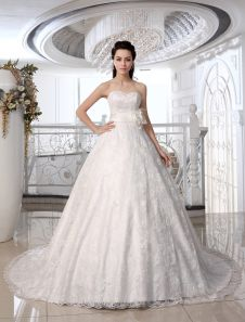 Ivory A-line Strapless Sweetheart Neck Beading Court Train Brides Wedding Dress. Get unbelievable discounts up to 60% Off at Milanoo using Coupon & Promo Codes.