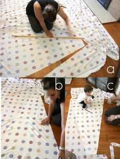 DIY Tee Pee detailed tutorial using a queen sized sheet