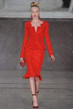 Zac Posen Fall 2012 Ready-to-Wear Fashion Show - Coco Rocha