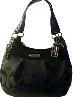 Coach 19445 Black Signature Hobo Tote Nwt