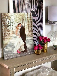 $145.00 Gift  Wedding Decor Canvas Photo words Art JUST ENGAGED or MARRIED! Always Kiss me Goodnight ...or your memories and sayings. Personalized Custom Large Gallery Wrapped Canvas Photo Portrait & Word Art. Wedding, Engagement Or Anniversary Photo with Vows,lyrics, Poem, Love Letters.