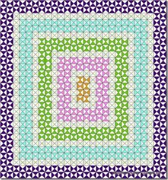 Hourglass Leader/Ender project from strips and Essential Triangle tool. Start with unit medallion and work out. Lap Quilts, Scrappy Quilts, Quilt Blocks, Bonnie Hunter, Quilting Tips, Quilting Designs, New Project Ideas, Purple Quilts, Civil War Quilts