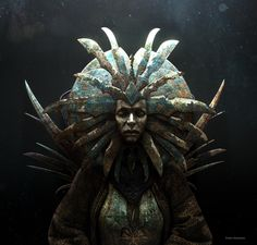 Her Serenity (Lady of Pain from Planescape) , Paolo Giandoso on ArtStation at https://www.artstation.com/artwork/Lk8Ll