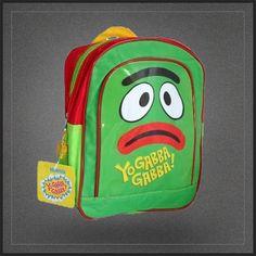 Sac à dos Yo Gabba Gabba avec Brobee le monstre. Sac école maternelle pour enfant. Sac à dos original en vente sur Muku.