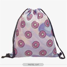 2016 New Drawstring Bag Women Backpack 3d Printing Patchwork Softback  Mochila Feminina Harajuku Unisex Backpacks BP043 eb6c05acafe10