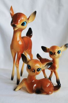 Vintage Christmas Plastic Reindeer.My friend gave these to me today,she is a deer!