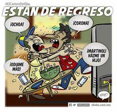 """""""Están de regreso"""" #ElCartonDelDia #zheko_grafico #DisfrutenloConLeche #MonerosFutboleros"""