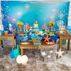 Festa fundo do mar: 75 inspirações e tutoriais para fazer a sua Spongebob Birthday Party, Boys First Birthday Party Ideas, Boy Birthday Parties, Birthday Party Decorations, Deco Table, Photos, Baby Shark, Dory, Bubble Guppies Party