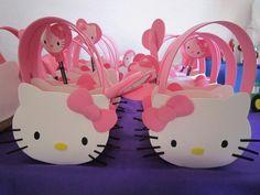 Bolsos de foamy con motivo de hello kitty, para fiesta infantil
