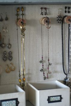 My dear friend, Megan, and I were recently discussing the cute handmade jewelry-hanging ideas that we've seen in bloggyland. We both agreed that we also need a spot for things that don't hang, without having two different items for storage. Last week, I got inspired. I realized that using a tray on its side [...]