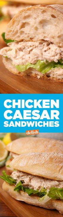 Chicken Caesar Sandwiches are the slow-cooker dinner you've been desperately searching for. Get the recipe from Delish.com.