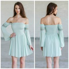 This off-the-shoulder dress is a steal at just $34!  http://ss1.us/a/k7JxBBVp