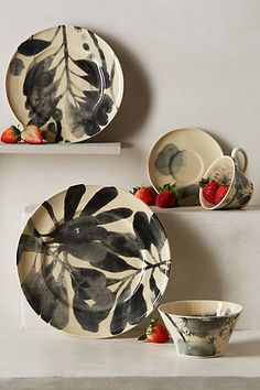 Image result for anthropologie watercolor flowers dinnerware
