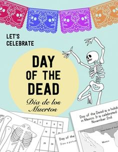 Holidays around the World: Day of the Dead / Día de los Muertos HUGE unit with cute decorations (including a bilingual banner and papel picado), Math Activities that are Common Core-aligned, skeleton art project, coloring sheets, an excellent Reading/ Comprehension Questions that are Culturally Accurate & Common Core-aligned.