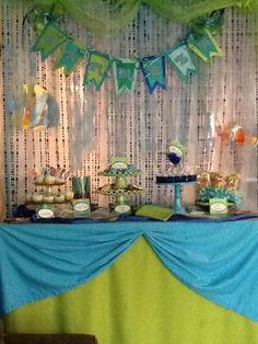 Dessert buffet under the sea theme from Tied With A Bow#Pin By:Pinterest++ for iPad#