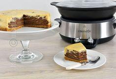 Cheesecake cu ciocolata facut la Crock-Pot (CC Eng Sub) No Cook Desserts, Chocolate Cheesecake, Slow Cooker Recipes, Crockpot, French Toast, Sweets, Cookies, Breakfast, Healthy