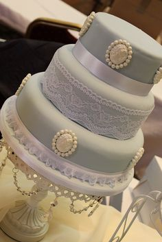 Vintage style Cameo Wedding Cake by Victoria's Kitchen, via Flickr