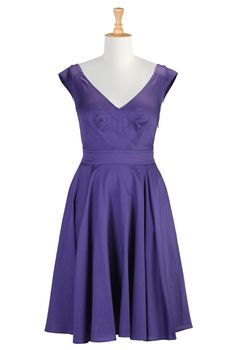 60S Style A-Line Dresses, Dress Clothes For Women Shop womens designer fashion online - Custom Womens Clothing: Dresses, Blouses and Skirts   eShakti.com $89.95