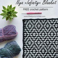 Lilla Björn Sweater: Part 1 | LillaBjörn's Crochet World Mosaic Patterns, Pdf Patterns, Crochet Patterns, Free Pattern, Crochet Hooks, Free Crochet, C2c Crochet, Blanket Crochet, Crochet Afghans