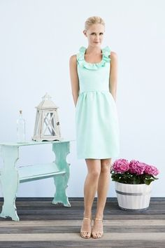 perfect mint ruffle dress - click and check out the back (dying!)