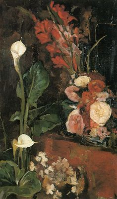 Flowers - George Hendrik Breitner - The Athenaeum Rotterdam, Painter Artist, Dutch Painters, Famous Art, Classical Art, Flower Images, Sculpture, Art Of Living, Landscape Art