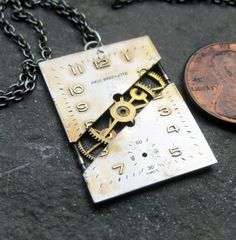 Watch Face Pendant Unlocked Deconstructed Watch by amechanicalmind, $49.00