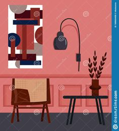 Illustration about Living room interior with sofa, modern painting and lamp. Vector illustration. Illustration of flat, house, living - 188684408 Painting Lamps, Interior Sketch, Modern Sofa, Living Room Interior, Sketches, Flat, Drawings, Illustration, House