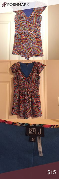 Multi-Colored Romper! 😍 This romper is to dieee for! It is so gorgeous, worn once to dinner. Fully lined and buttons up in the front. True to size and absolutely perfect for a night out! Very J Other