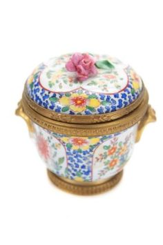 Sevre-18th-Century-Gorgeous-3-French-Hand-painted-Gilt-Porcelain-Inkwell-Rare