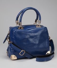 Take a look at this Blue Glossy Satchel on zulily today!