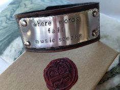 Personalized Leather Bracelet Personalized by BlueCornerCreasigns