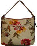 Women's Etienne Aigner Purse Handbag Tucson Fabric Collection Garden Floral