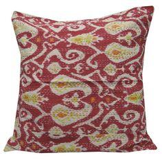 24x24 Handmade Kantha Paisley Embroidered by RajasthanRoyals, $20.99