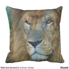 Paint Lion (lion) Pillow