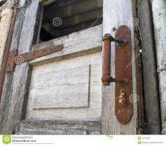 rusty vintage door handle