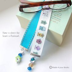 Birdhouse & Birdies printed ribbon bookmark by Made 4 your Books £9.00