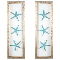 Little #Starfish Framed Wall Art Set in #Teal