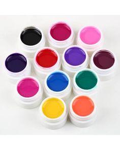 New 12 Bottle Mix Color nail gel UV nails gel polish base Nail Art Polish Set gel UV nail Art Decorations kit Nail Art Set, 3d Nail Art, Nail Art Hacks, Uv Nails, Gel Nail Polish, Manicure, Kit Gel Uv, Acrylic Set, Prego