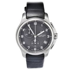 Victorinox Swiss Army Men's 241552.1 Leather Officers Analog Quartz Chronograph Watch Victorinox Swiss Army. $356.88. Water-resistant to 100 M (330 feet). Quartz movement. Scratch resistant, anti-reflection sapphire crystal. Case diameter: 40 mm. Swiss quartz watch