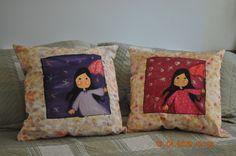 Almofadas pintadas a mão...