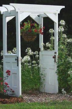 Garden arbor idea (picture only)- original source is Flea Market Gardening, Larry and Jeanne Sammons                                                                                                                                                     More