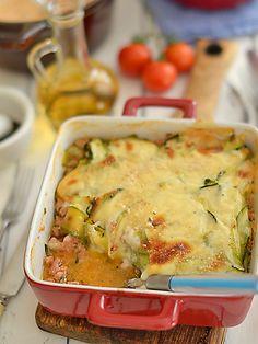 Przepis na lazania (lasagne) z cukinii i mielonego mięsa - MniamMniam.com