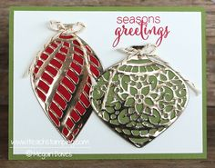 Easy Gold Foil Ornaments Bling Up a Card