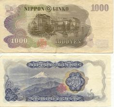 ¥1,000 & ¥500 Notes