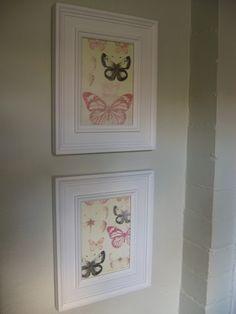 DIY Wall Art using Scrapbook Paper