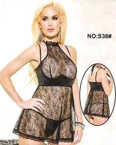 68c737ba02 Bridal Sexy Transparent Short Lace Nighty - S38 Night Suit For Women