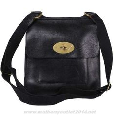 cafe50dcc6 Buy Mulberry Mens Antony Messenger Natural Leather Bag Black Sale Online  Mulberry Antony